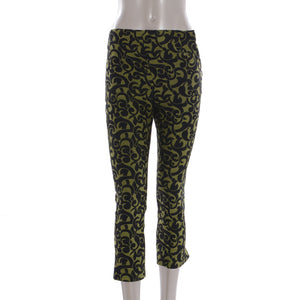 Green & Black Patterned Pants