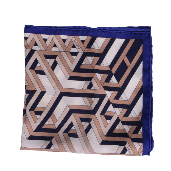 Blue Carre Cube Scarf