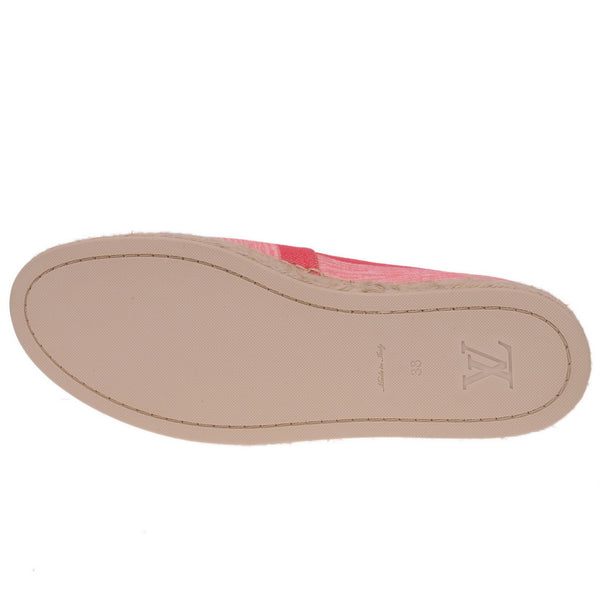 Canvas Blue Shore Espadrille Flats 40 Corail