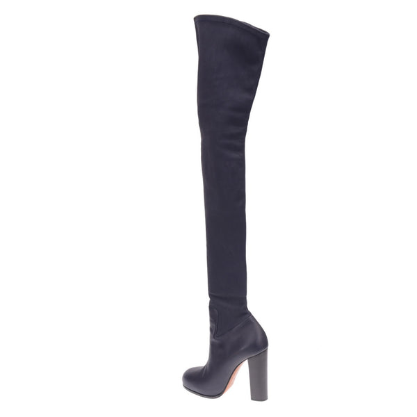 Navy Thigh High Boots