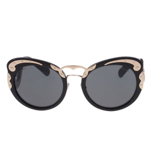 Black Gold Minimal Baroque Sunglasses