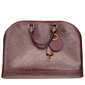 Burgundy Alma Patent Leather GM Hand Bag