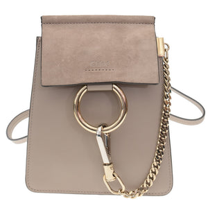 Taupe Suede Leather Mini Faye Cross Body Bag