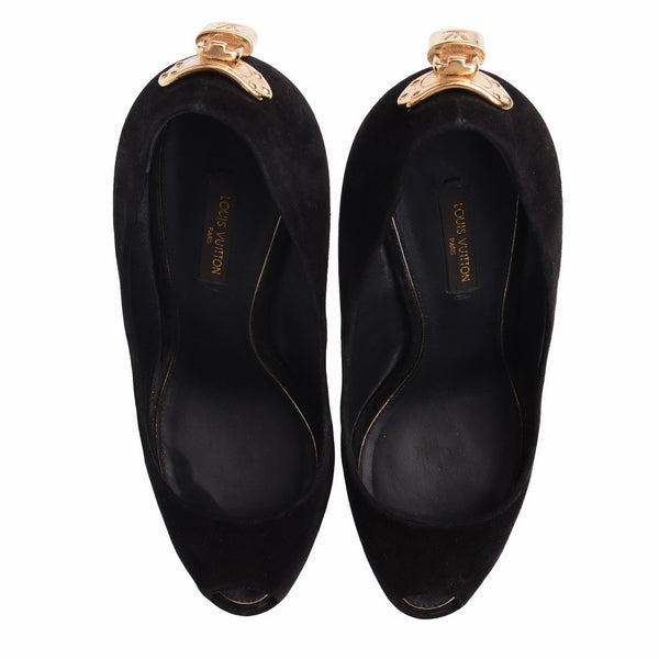 Black And Gold New Women Oh Really Pumps