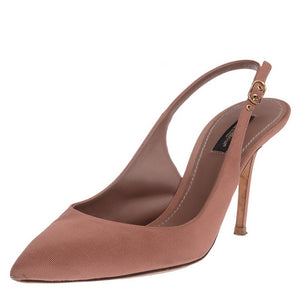 Pink Slingback Pointed Toe Pumps