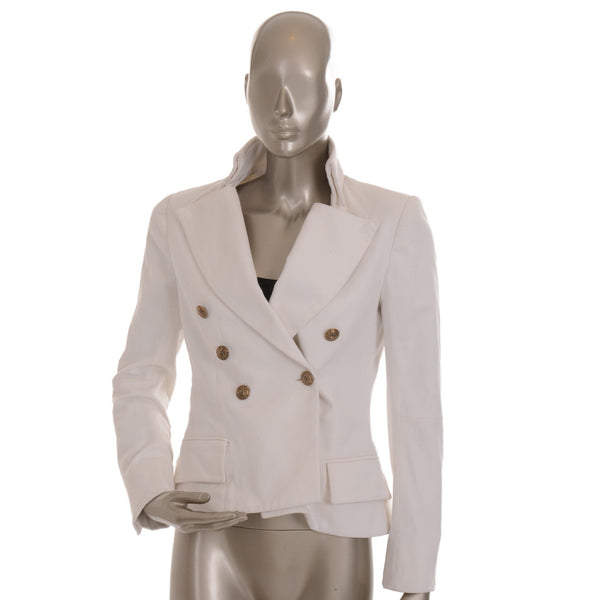 White double breasted blazer