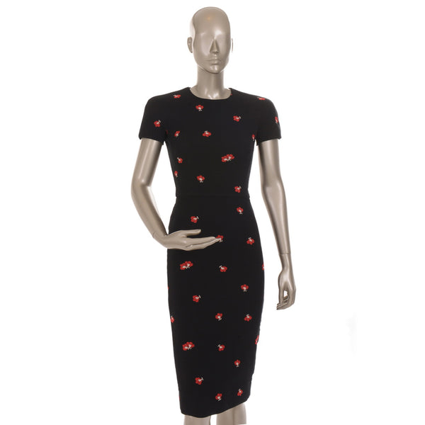 Stretchy Floral Jacquard Dress