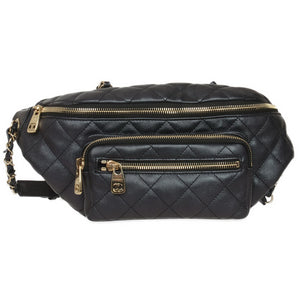 Black Iridescent Leather Special Edition Waist Bag