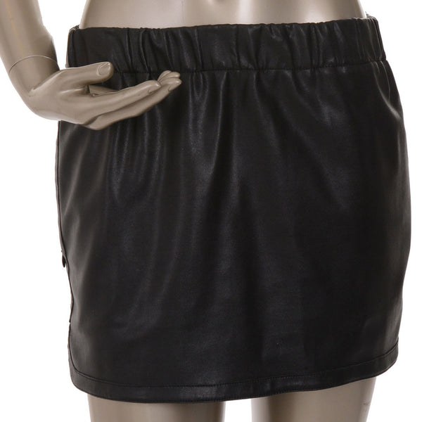 Mini Faux Leather Skirt