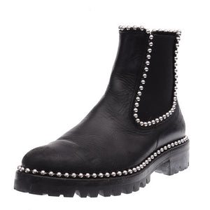 Vibram Black Spencer Studded Chelsea Boots