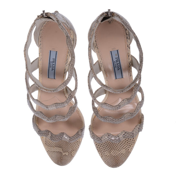 Python Scalloped Sandals