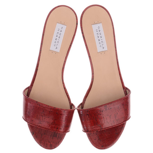 Garcia Red Leather Mules