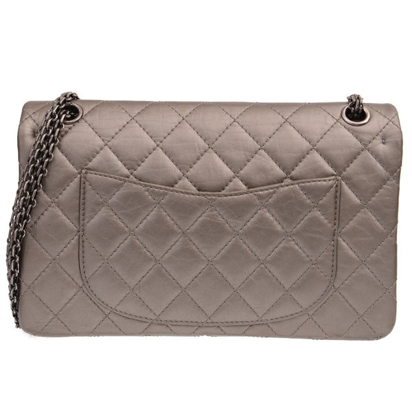752cb550e9d9 2.55 Reissue 225 Double Flap Grey Leather Shoulder Bag – PrePorter ...