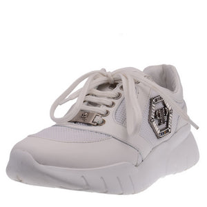 Crystal Logo White Sneakers
