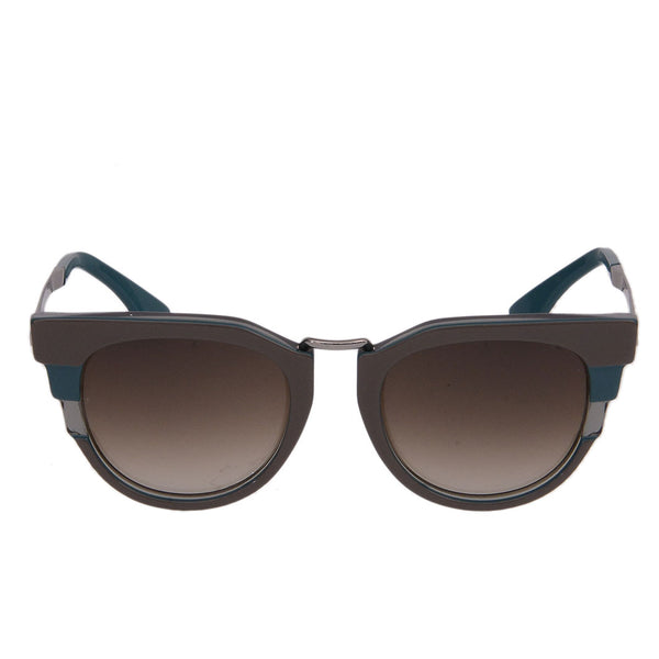 Grey Teal Cat Eye Sunglasses