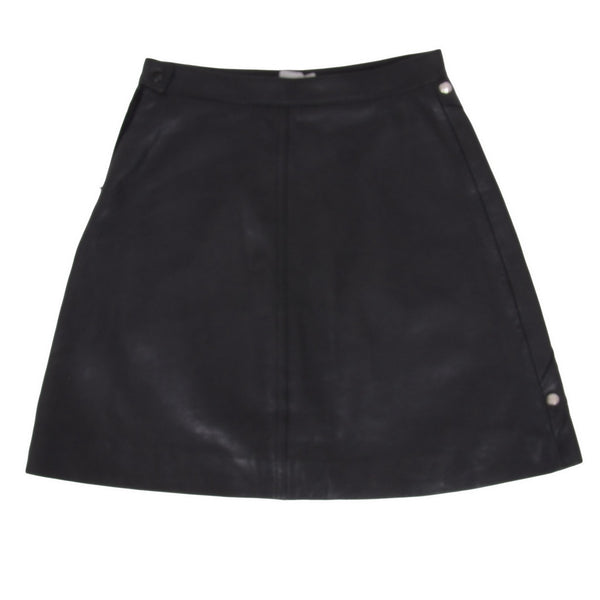 Leather Skirt with Silver Studs