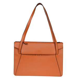 Orange Calf Leather Trunk Shoulder Bag