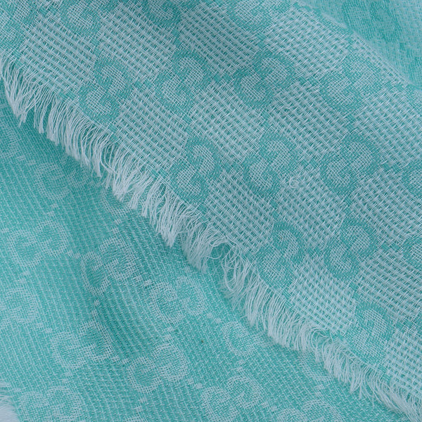 Mint Green 'GG' Monogram Scarf