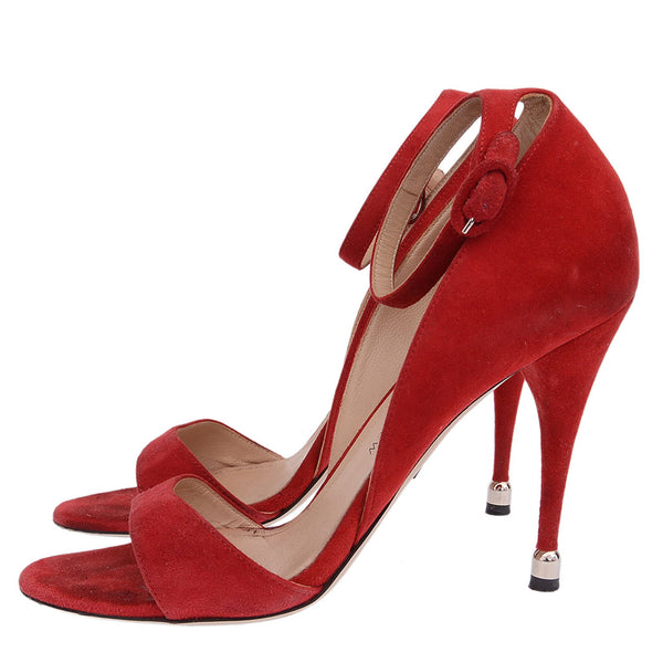 Red Westside Suede Sandals