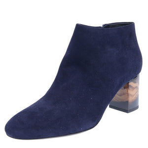 Blue Stowport Ankle Heeled Boots