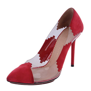 Montana Grenadine Red Suede Pumps