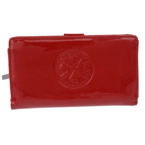 Rouge Patent Leather Portefeuille
