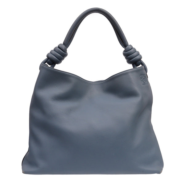 Flamenco Knotted Leather Hobo Bag