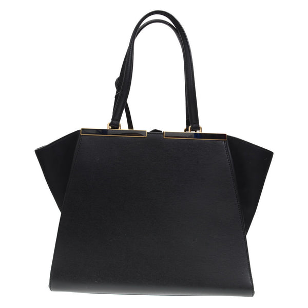 3Jours Black Leather Hand Bag