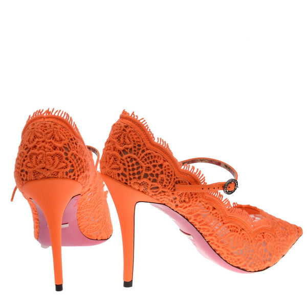 Virginia Crystal Embellished Corded Lace Mary Jane Pumps