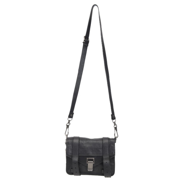 Black PS1 Leather Pouch Crossbody Bag