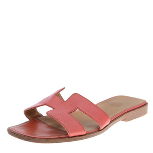 Red Leather Oran Sandals