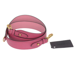 Fuchsia Begonia Saffiano Leather Shoulder Bag Strap