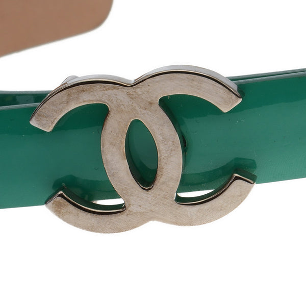Patent Emerald Green Logo Belt