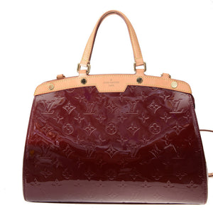 Brea Vernis Red Burgundy Patent Leather Handbag