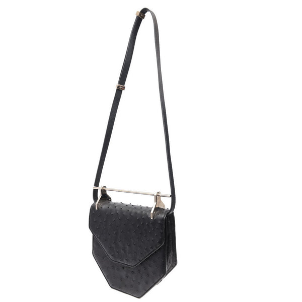 Black Ostrich Limited Edition Hand Bag
