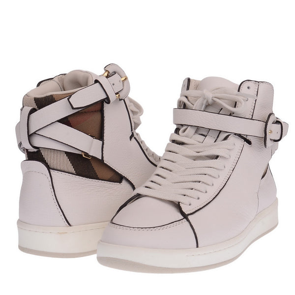 White Folkington High Top Sneakers