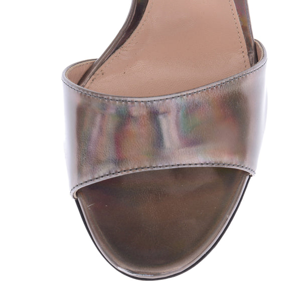 Black and Holographic Sandal Heels