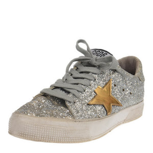 Silver Glitter Superstar Sneakers