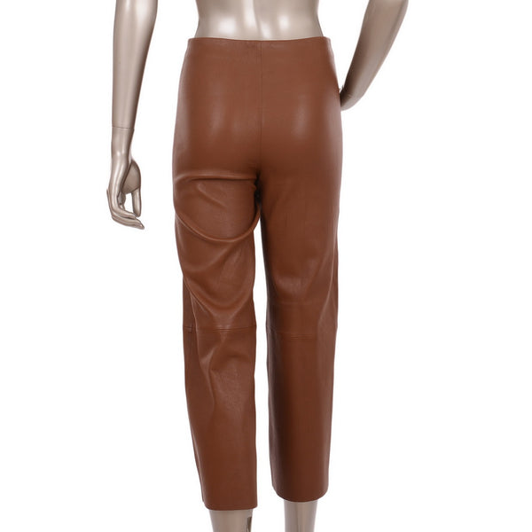 Camel Paqia Leather Pants