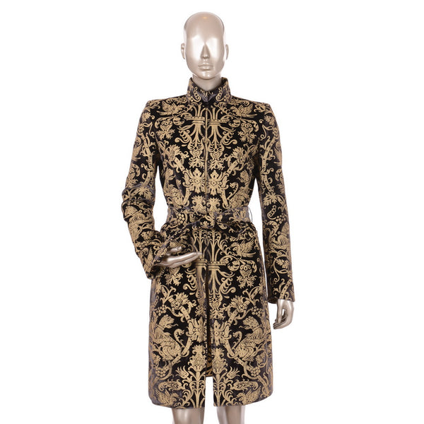 Black Velvet Coat With Gold Patterns