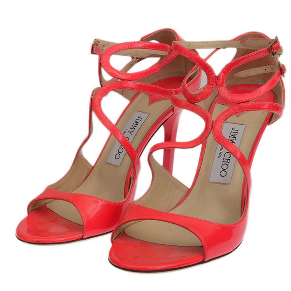 Ivette Pink Patent Leather Sandals