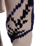 Hand Knit Wool Fringed Intarsia Jumper