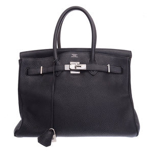 Birkin 35 Black Togo Leather Bag