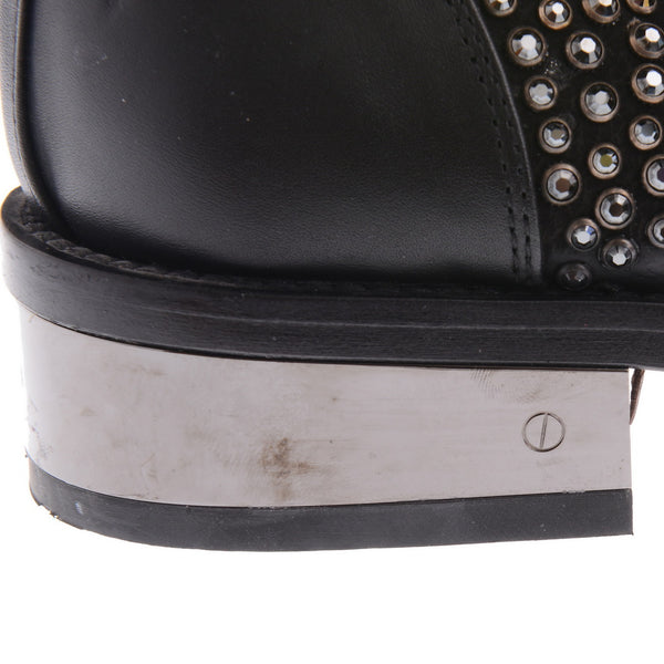 Crystal Embellished Moto Booties