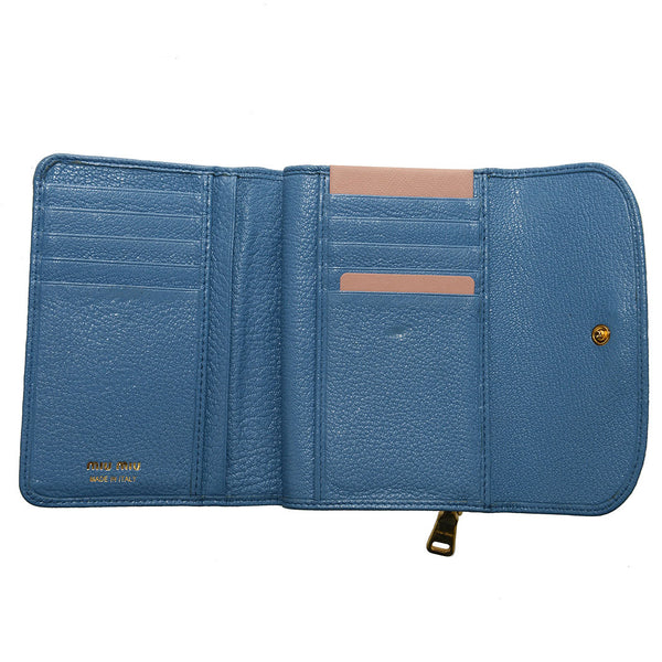Mare Blue Madras Medium Wallet