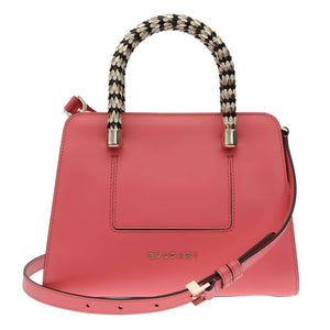 Pink Serpenti Handle Medium Scaglie Bag