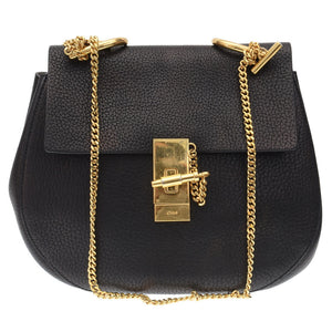 Black Small Drew Leather Crossbody