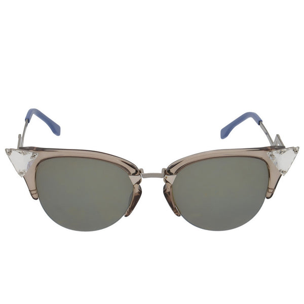 Crystal Embellished Blue & Beige Iridia Sunglasses