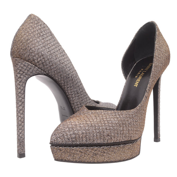 Metallic Glitter Mesh High Heels