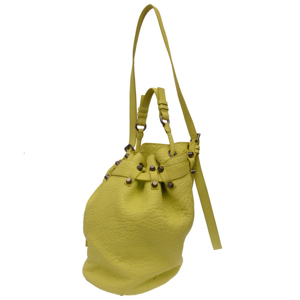Diego Neon Yellow Bucket Bag